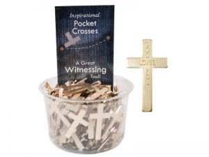 POCKET CROSS GOD LOVES YOU GOLD 200PK
