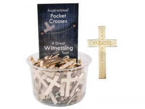 POCKET CROSS GOD ANSWERS PRAYERS GOLD 200PK