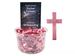 POCKET CROSS GOD LOVES YOU PINK 200PK