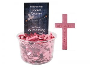 POCKET CROSS I CAN DO ALL THINGS PINK 200PK