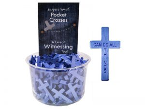 POCKET CROSS I CAN DO ALL THINGS BLUE 200PK