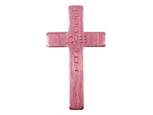POCKET CROSS GOD LOVES YOU PINK 50PK