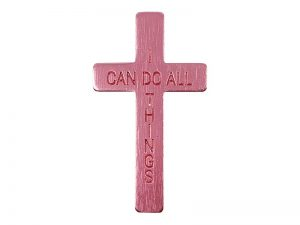 POCKET CROSS I CAN DO ALL THINGS PINK 50PK