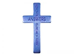 POCKET CROSS GOD ANSWERS PRAYERS BLUE 50PK