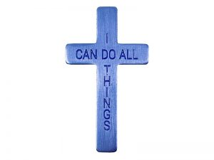 POCKET CROSS I CAN DO ALL THINGS BLUE 50PK