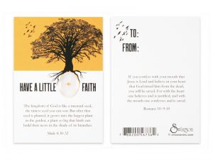 MUSTARD SEED OF FAITH CARDS PK50