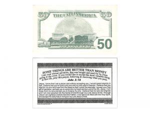 MONEY TRACT ($50.00) 3/100PK