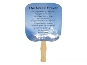 HAND FAN LORD'S PRAYER PK50