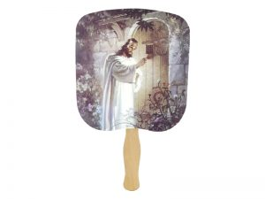 HAND FAN CHRIST KNOCKING PK50