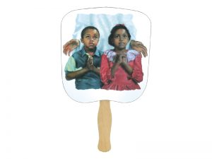 HAND FAN IN JESUS NAME PK50