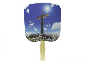 HAND FAN CROSS PK50