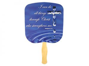 HAND FAN I CAN DO ALL THINGS PHIL. 4:13 PK50