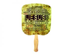 HAND FAN JESUS OUR SAVIOR PK50