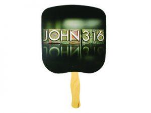 HAND FAN JOHN 3:16 PK50