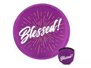 FOLDABLE HAND FAN BLESSED PK6