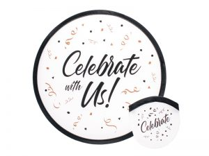 "FOLDABLE HAND FAN ""CELEBRATE WITH US"" – PK6"