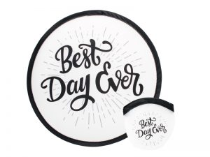 "FOLDABLE HAND FAN ""BEST DAY EVER"" – PK6"