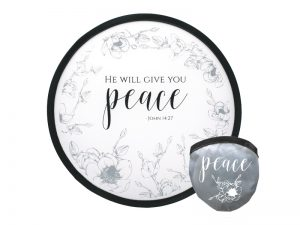 "FOLDABLE HAND FAN ""PEACE"" – PK6"