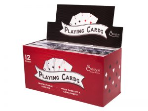 PLAYING CARDS CONTEMPORARY DISPLAY 12CT