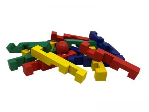 3D STUMBLING BLOCK WOODEN PUZZLE INTERTWINED