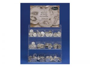 12 COMPARTMENT  ACRYLIC COUNTER DISPLAY INSPIRATIONAL TOKENS