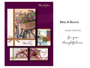 BOXED CARDS THANK YOU BIKES & BLOOMS