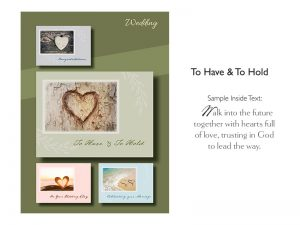 BOXED CARDS WEDDING TO HAVE & TO HOLD