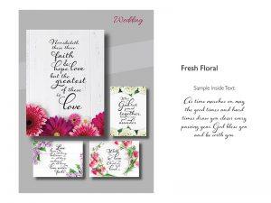 BOXED CARDS WEDDING FRESH FLORAL