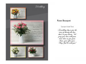 BOXED CARDS WEDDING ROSE BOUQUET