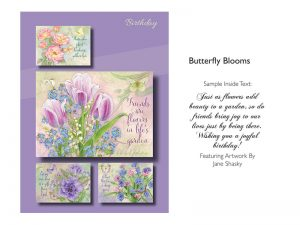 BOXED CARDS BIRTHDAY BUTTERFLY BLOOMS