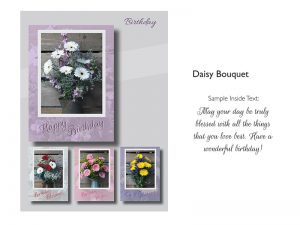 BOXED CARDS BIRTHDAY DAISY BOUQUET