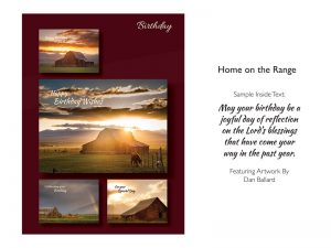 BOXED CARDS BIRTHDAY HOME ON THE RANGE