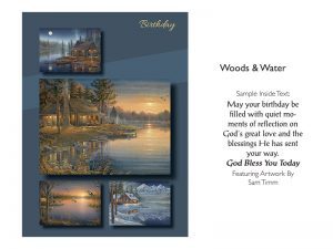 BOXED CARDS BIRTHDAY WOODS & WATER