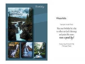 BOXED CARDS BIRTHDAY WATERFALLS