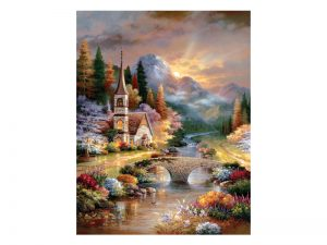 PUZZLE A COUNTRY EVENING SERVICE 1000PCS