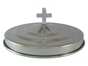 COMMUNION BREAD PLATE COVER SILVER