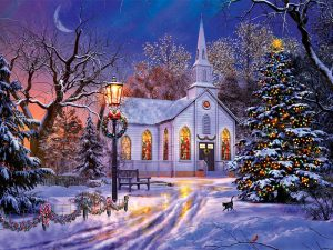 PUZZLE 'THE OLD CHRISTMAS CHURCH' – 1000 PC