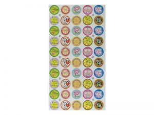 GIRLS SERIES 50 PER PACK STICKERS PK6