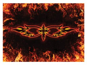 LAPTOP SKIN CROSS & FLAMES
