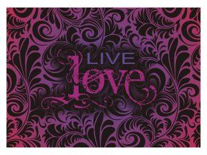 LAPTOP SKIN LIVE LOVE