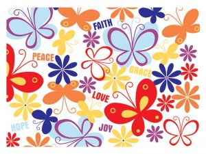 LAPTOP SKIN FAITH, PEACE, JOY, LOVE