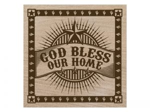 SANDSTONE COASTERS GOD BLESS OUR HOME BOX 4
