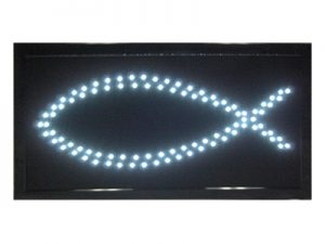 LED LIGHT UP SIGN FISH