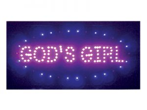 LED LIGHT UP SIGN GOD'S GIRL
