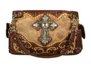 FASHION CONCEAL CARRY PURSE CROSS BROWN/BROWN