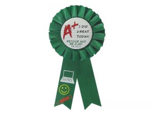 AWARD RIBBON BADGES A+ I DID GREAT TODAY – PACK OF 3