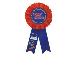 AWARD RIBBON BADGE VERY SMART – PACK OF 3