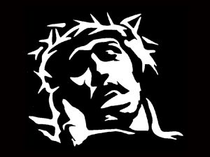 AUTO VINYL DECAL HEAD OF CHRIST