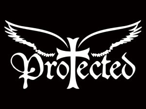 AUTO VINYL DECAL PROTECTED WHITE 8inX4in