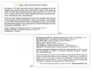 POCKET CARD OIL OF JOY ANOINTING OIL PK50